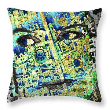 Throw Pillow featuring the mixed media Princess by Tony Rubino