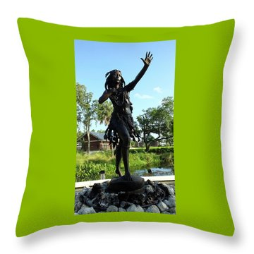 Princess Ulele Statue Throw Pillow by Judy Wanamaker