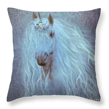 Princess Unicorn Throw Pillow