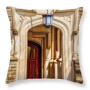 Throw Pillow featuring the photograph Princeton University 1901 Laughlin Hall by Susan Candelario