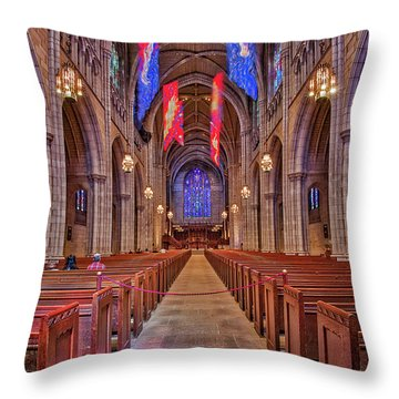Throw Pillow featuring the photograph Princeton University Chapel by Susan Candelario