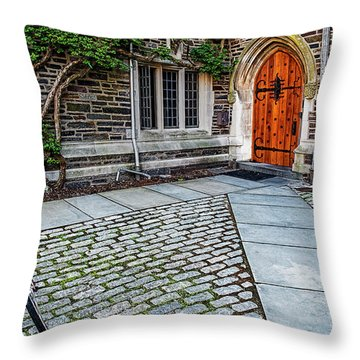 Throw Pillow featuring the photograph Princeton University Foulke Hall by Susan Candelario