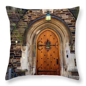 Throw Pillow featuring the photograph Princeton University Henry Hall by Susan Candelario
