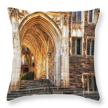 Throw Pillow featuring the photograph Princeton University Lockhart Hall Dorms by Susan Candelario