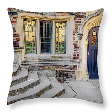 Throw Pillow featuring the photograph Princeton University Lockhart Hall by Susan Candelario