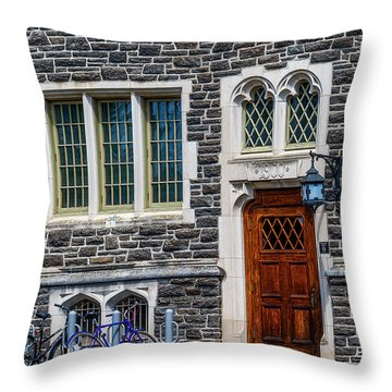 Throw Pillow featuring the photograph Princeton University Patton Hall No 9 by Susan Candelario