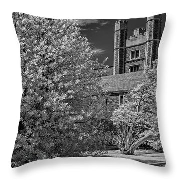 Throw Pillow featuring the photograph Princeton University Buyers Hall by Susan Candelario