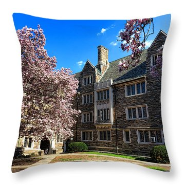 Princeton University Pyne Hall Courtyard Throw Pillow by Olivier Le Queinec