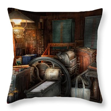 Printing - Stop The Presses  Throw Pillow by Mike Savad