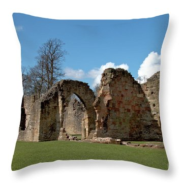 Priory Ruins Throw Pillow