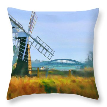 Priory Windmill Throw Pillow