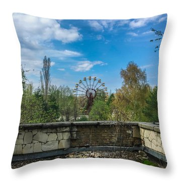 Pripyat Ferris Wheel In Chernobyl Throw Pillow