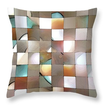Throw Pillow featuring the digital art Prism 1 by Gina Harrison
