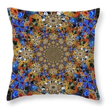 Prismatic Glasswork Throw Pillow