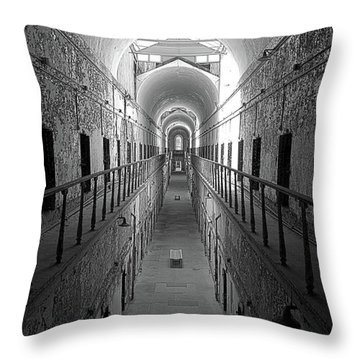 Prison Cell Hall Throw Pillow