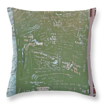 Prison Graffiti 2 Throw Pillow