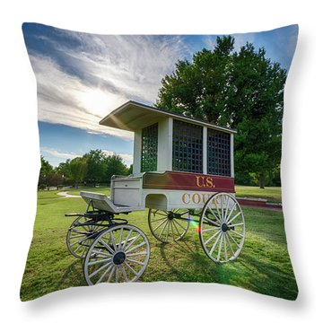 Throw Pillow featuring the photograph Prison Wagon by James Barber