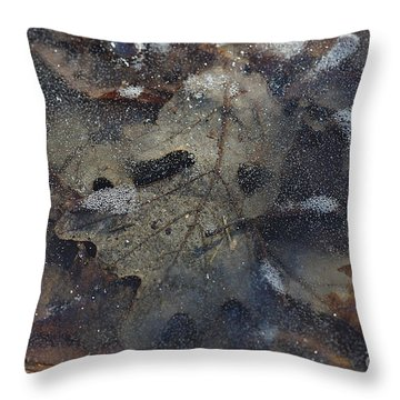 Throw Pillow featuring the photograph Prisoner Of The Ice by Cendrine Marrouat