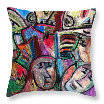 Prisoners By Rafi Talby Throw Pillow by Rafi Talby
