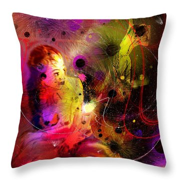 Prisonner Of The Past Throw Pillow by Miki De Goodaboom