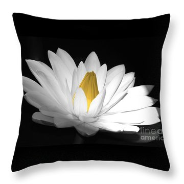 Pristine Throw Pillow by Cindy Manero
