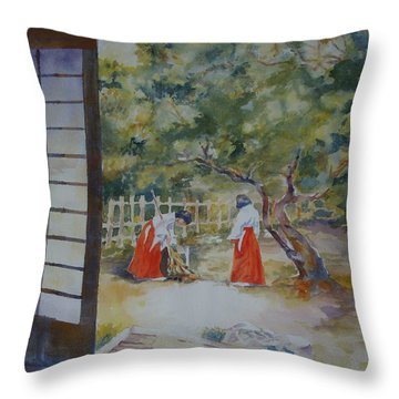 Pristine Morning Throw Pillow