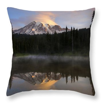 Pristine Reflections Throw Pillow by Mike  Dawson