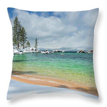 Pristine Shores By Brad Scott Throw Pillow