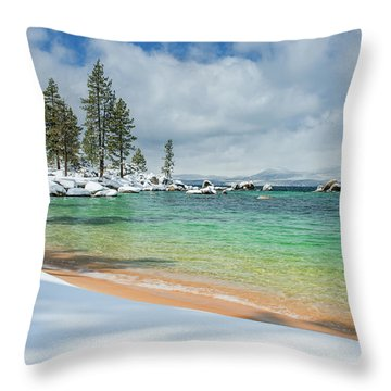 Pristine Shores By Brad Scott Throw Pillow