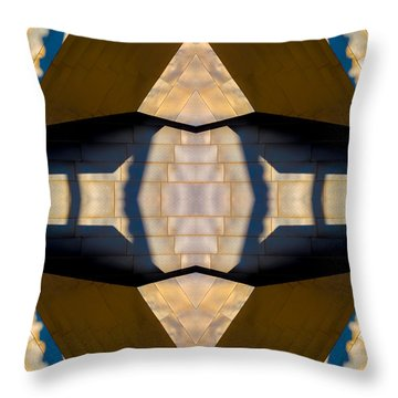 Pritzker Pavilion Gehry N79v2 Throw Pillow by Raymond Kunst