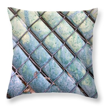 Privacy Chain Throw Pillow by Stan  Magnan