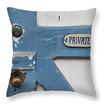 Throw Pillow featuring the photograph Private by Ana V Ramirez