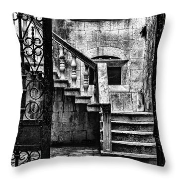 Private Courtyard Throw Pillow