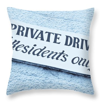 Private Drive Throw Pillow