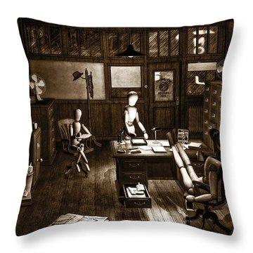 Private Eye Throw Pillow by Bob Orsillo