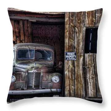 Private Parking Throw Pillow by Ken Smith