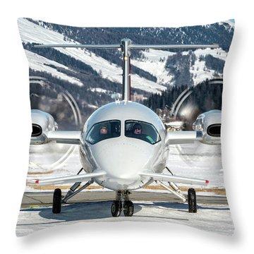 Private Piaggio P180 Avanti I-bcom Throw Pillow