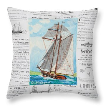 Privateer Off Charleston, Sc Throw Pillow