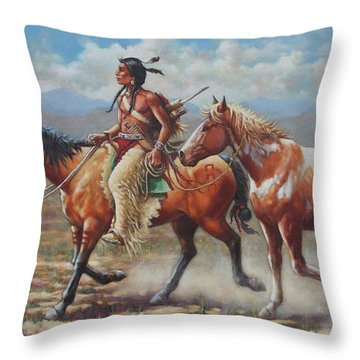 Prize Pony Throw Pillow by Harvie Brown