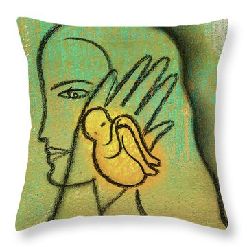 Throw Pillow featuring the painting Pro Abortion Or Pro Choice? by Leon Zernitsky