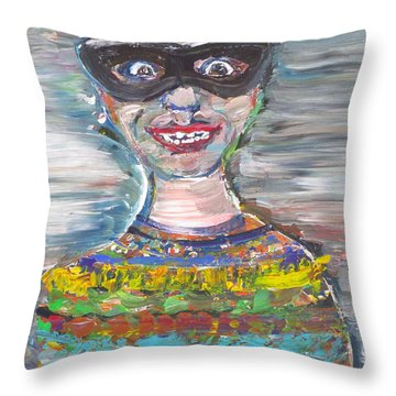 Throw Pillow featuring the painting Probably Reincarnated by Fabrizio Cassetta