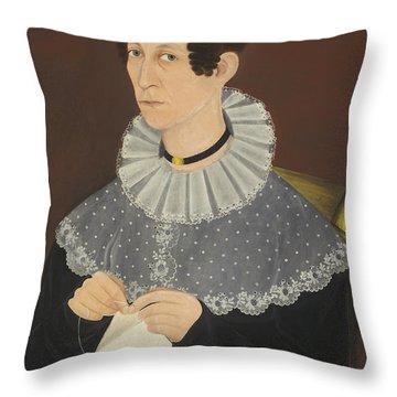 Probably Sarah Cook Arnold Knitting Throw Pillow