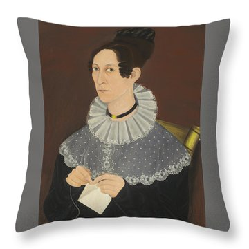 Probably Sarah Cook Arnold Knitting Throw Pillow