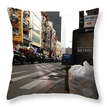 Problems Nyc  Throw Pillow