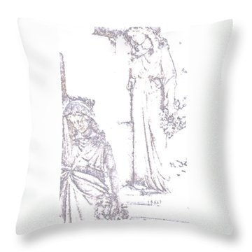 Throw Pillow featuring the photograph Procession Of Faith 2 by Linda Shafer