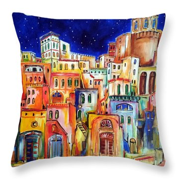 Procida Under The Moon Throw Pillow