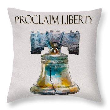 Proclaim Liberty Throw Pillow