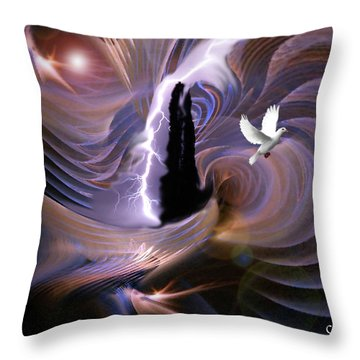 Proclaiming The Glory Throw Pillow by Julie Grace