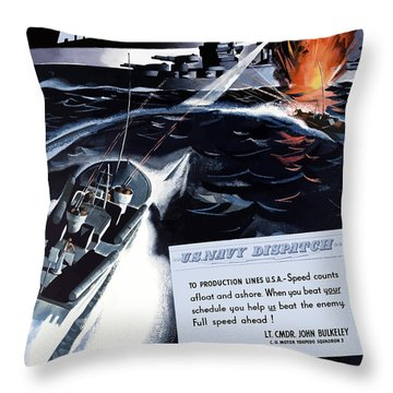 Produce For Your Navy Throw Pillow
