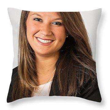 Professional Headshot Throw Pillow